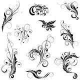 Set of variety floral designs Royalty Free Stock Photography