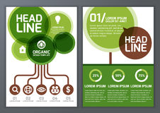 Set of vector nature organic template for brochure, flyer, poste Royalty Free Stock Photos