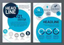 Set of vector template for brochure, flyer, poster, application Stock Image