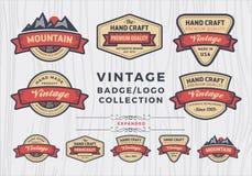 Set of vintage badge/logo design, retro badge design for logo Stock Photo