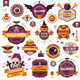 Set Of Vintage Happy Halloween Badges and Labels Royalty Free Stock Image