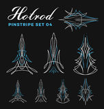 Set of vintage pin striping line art. Royalty Free Stock Images