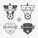 Set of vintage soccer or football logo, emblem, badge. Royalty Free Stock Image
