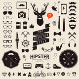 Set of vintage styled design hipster icons. Vector signs and symbols templates Stock Images