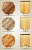 Set of wood elements for design Stock Photo
