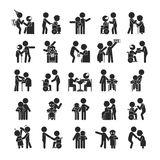 Set of young volunteer character , Human pictogram Icons Royalty Free Stock Images