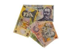 Seta romena da moeda da cédula dos leus Imagem de Stock