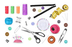 Sewing accessories Stock Photos