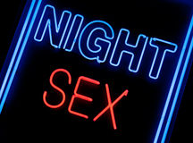 Sex shop sign Royalty Free Stock Photography