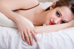 Sexy girl in bed Royalty Free Stock Photo