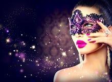 Sexy woman wearing carnival mask Royalty Free Stock Photo