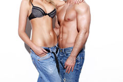 Sexy young fashionable couple body Royalty Free Stock Image