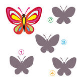 Shape game - the butterfly Royalty Free Stock Images
