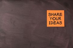 Share Your Ideas Stock Photo