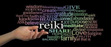 Sharing Reiki Word Cloud Website Header Stock Images