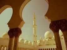 Sheikh Zayed Mosque Retro Royalty-vrije Stock Foto