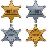 Sheriff Star Badge Set Royalty Free Stock Images