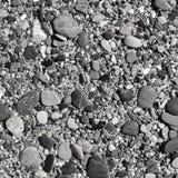 Shingle beach in black-and-white Stock Photos