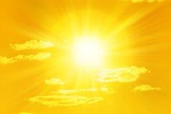Shining Yellow Sun Sky Royalty Free Stock Photo