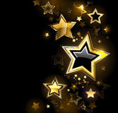 Shiny gold star Royalty Free Stock Images