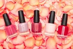 Shiny nail polish Stock Image