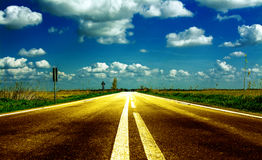 Shiny road Royalty Free Stock Photography