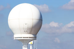 Ship radar dome Stock Image