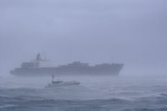 Ship in a Storm Royalty Free Stock Images