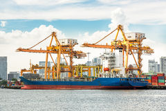 Shipping port Stock Image