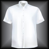 Shirt with collar and half sleeves Stock Photo