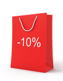 Shopping Bag (sale -10) Royalty Free Stock Photo