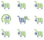 Ecommerce shopping cart icon set Stock Image
