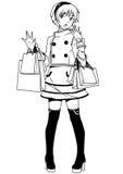 Shopping fashion girl Stock Image