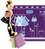 Shopping fashion woman Royalty Free Stock Photo