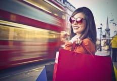 Shopping in London Stock Photo