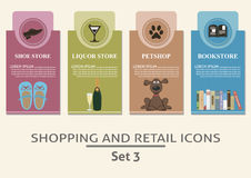 Shopping and retail  labels Stock Image
