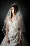 Shot of a Sad Teenage Bride Royalty Free Stock Image