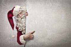 Showing Santa Claus Royalty Free Stock Image