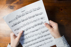 Sight-reading Royalty Free Stock Image