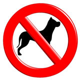 Sign prohibiting dogs Stock Images
