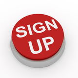 Sign up button Stock Photography
