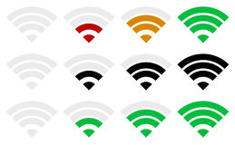 Signal strength indicator template. Wi-fi, wireless connection, Royalty Free Stock Photo