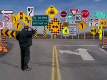 Signes, signes partout un signe. Photos stock