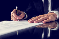 Signing legal document Stock Photography