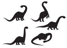 Silhouette of Brontosaurus dinosaur vector Stock Images