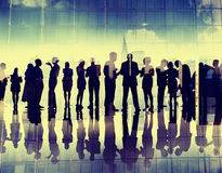 Silhouette Business People Corporate Connection Discussion Meeti Royalty Free Stock Photography