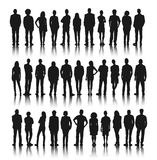 Silhouette Group of People Standing Concept Stock Image