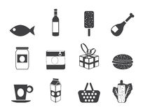 Silhouette Shop, food and drink icons 1 Stock Photo