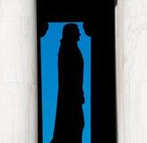 Silhouette of Thomas Jefferson Royalty Free Stock Images