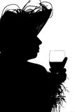 Silouette of a lady Royalty Free Stock Photos